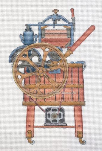 click here to view larger image of Antique Wood Washer (hand painted canvases)