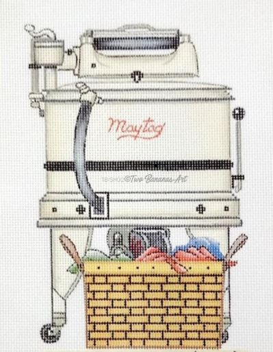 click here to view larger image of Maytag Washer (hand painted canvases)