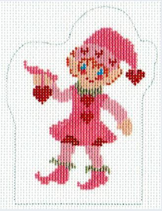 click here to view larger image of Cupids Elf Cutipie  (hand painted canvases)