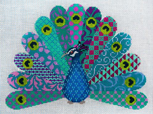 click here to view larger image of Fantasy Peacock (hand painted canvases)