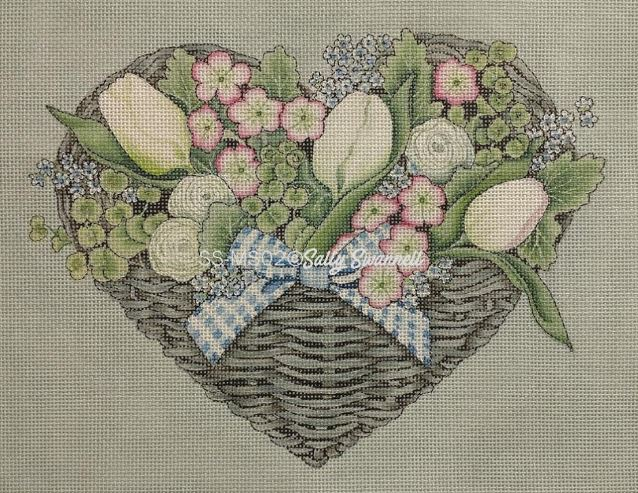 click here to view larger image of Floral Basket (hand painted canvases)