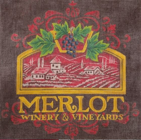 click here to view larger image of Merlot (hand painted canvases)