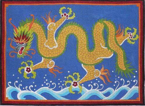 click here to view larger image of Dragon (hand painted canvases)