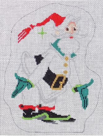 click here to view larger image of Classic Santa (hand painted canvases)