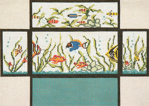 click here to view larger image of Fish Tank Brick Cover (hand painted canvases)