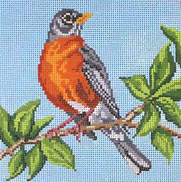 click here to view larger image of American Robin   (hand painted canvases)