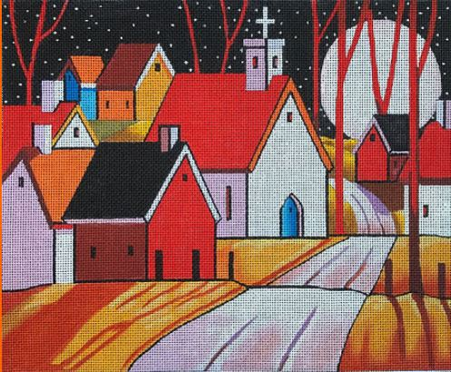 click here to view larger image of Roadway Town Noon (hand painted canvases)