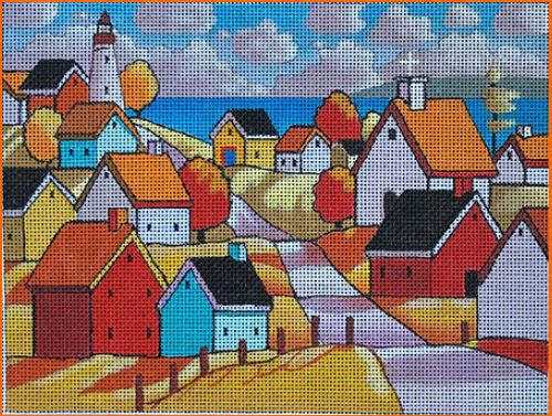 click here to view larger image of Lighthouse Town Roadway (hand painted canvases)