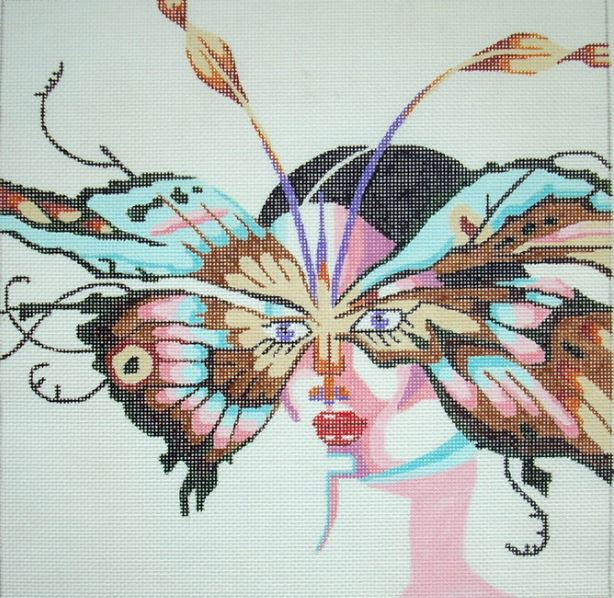 click here to view larger image of Moth Lady (hand painted canvases)