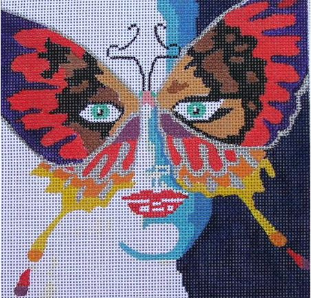click here to view larger image of Butterfly Lady (hand painted canvases)