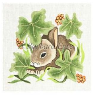 click here to view larger image of Bunny in Leaves (hand painted canvases)