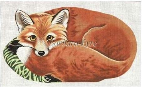 click here to view larger image of Fox (shaped) (hand painted canvases)