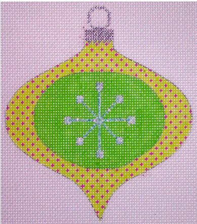 click here to view larger image of Atomic Christmas Green Bauble (hand painted canvases)