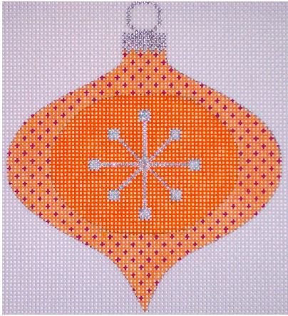 click here to view larger image of Atomic Christmas Orange Bauble (hand painted canvases)