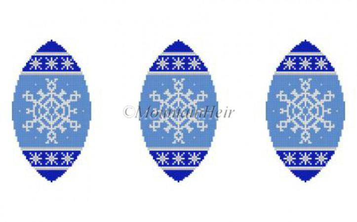 click here to view larger image of Snowflakes Triad Ornament (hand painted canvases)