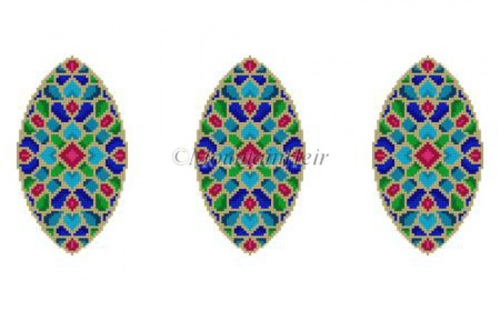 click here to view larger image of Jewels Triad Ornament (hand painted canvases)