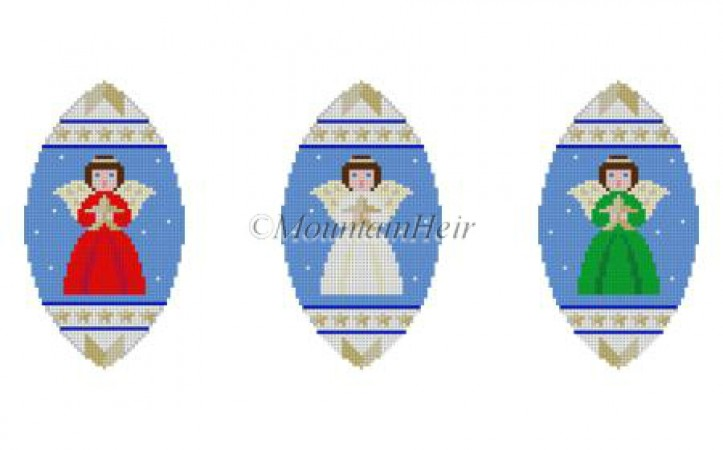 click here to view larger image of Angels Triad Ornament (hand painted canvases)
