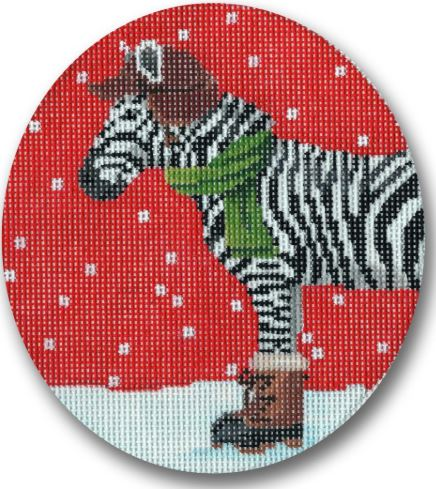 Zebra Dressed for Winter hand painted canvases