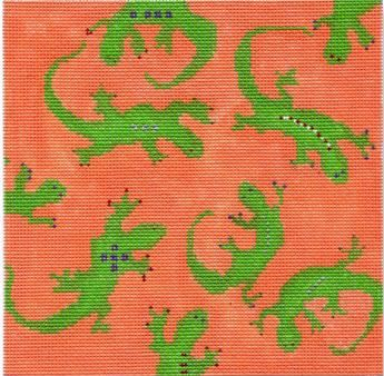click here to view larger image of Geckos (hand painted canvases)
