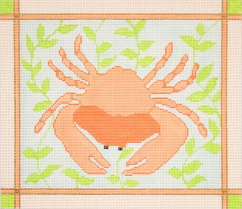 click here to view larger image of Coral Crab (hand painted canvases)