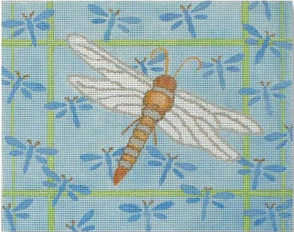click here to view larger image of Dragonfly on Dragonflies (hand painted canvases)