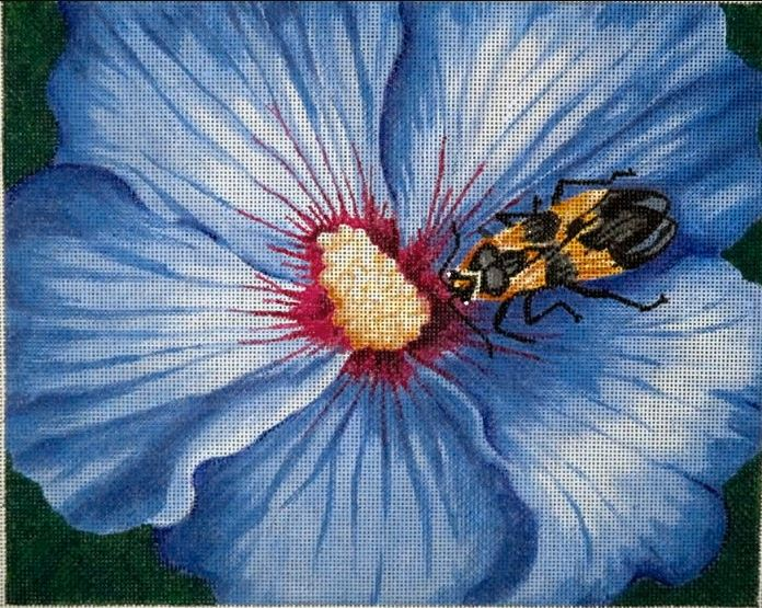 click here to view larger image of Hibiscus & Milkweed Bug (hand painted canvases)