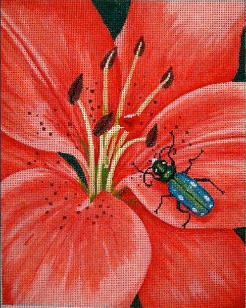 click here to view larger image of Tiger Lily & Tiger Bug (hand painted canvases)