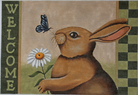 click here to view larger image of Spring Welcome - Rabbit (hand painted canvases)