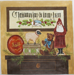 click here to view larger image of Christmas Joy is in My Heart (hand painted canvases)