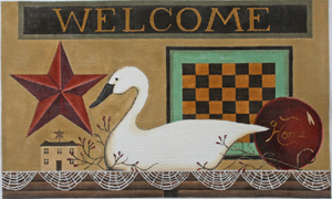 click here to view larger image of Welcome Home (hand painted canvases)