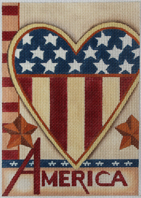 click here to view larger image of Heart of America (hand painted canvases)