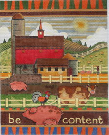 click here to view larger image of Be Content (hand painted canvases)