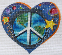 click here to view larger image of Lonely Hearts Club - World Peace   (hand painted canvases)