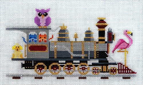 click here to view larger image of All Aboard the Orient Express  (hand painted canvases)
