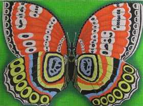 click here to view larger image of Butterfly Effect, The (hand painted canvases)