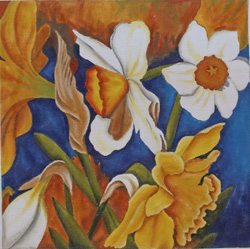 click here to view larger image of Daffodil Garden (hand painted canvases)