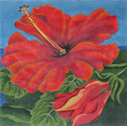 click here to view larger image of Crimson Hibiscus (hand painted canvases)