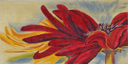 click here to view larger image of Crimson Daisy (hand painted canvases)
