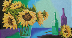 click here to view larger image of Sunflower Charm (hand painted canvases)