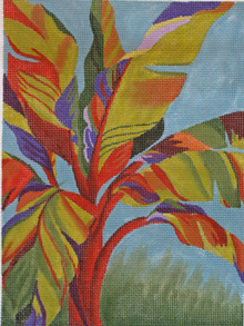 click here to view larger image of Tropical Plant (hand painted canvases)