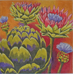 click here to view larger image of Artichokes (hand painted canvases)