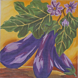 click here to view larger image of Eggplants (hand painted canvases)