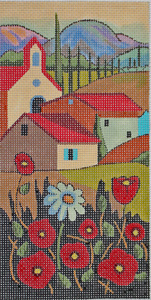 click here to view larger image of Country Church (hand painted canvases)