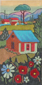 click here to view larger image of Country Home (hand painted canvases)