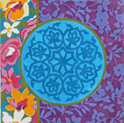 click here to view larger image of Arabesque Medallion (hand painted canvases)
