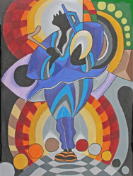 click here to view larger image of Ethnic Gallery - Symbol Player (hand painted canvases)