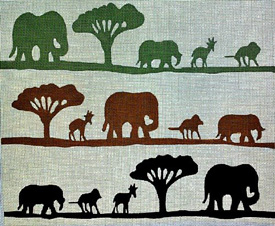 click here to view larger image of African Safari (hand painted canvases)