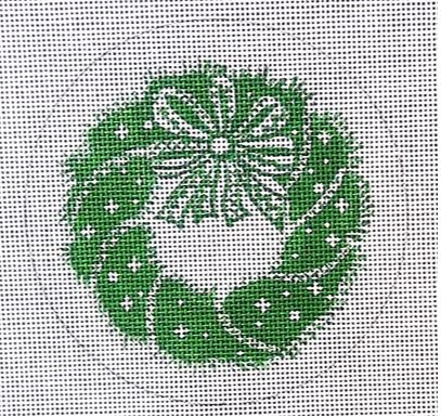 click here to view larger image of Green Wreath (hand painted canvases)