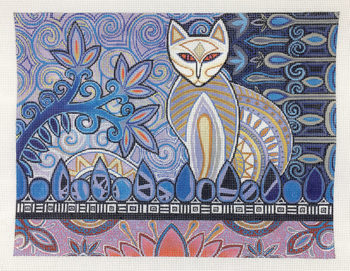 click here to view larger image of Stylin Siamese (hand painted canvases)