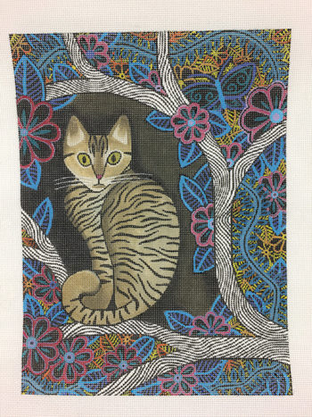 click here to view larger image of Tabby Kitty (hand painted canvases)